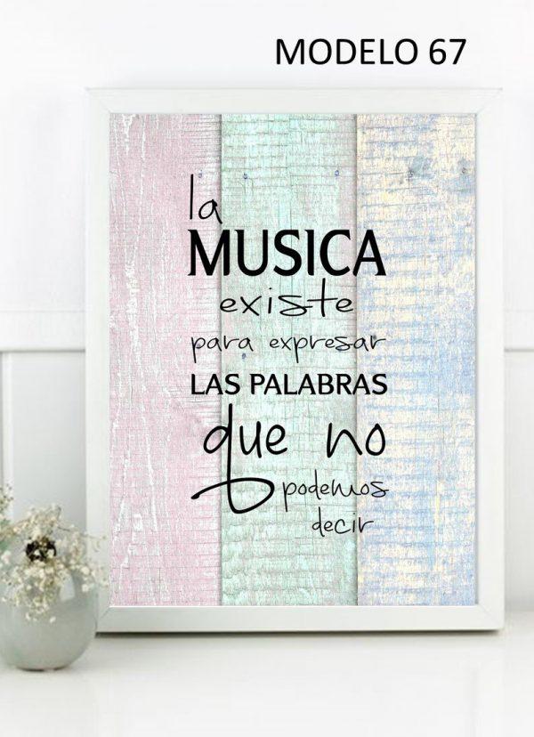 La música existe para expresar las palabras que no podemos decir.