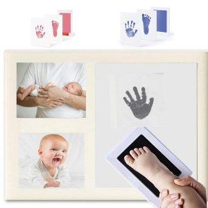 Cuadro para huellas de pie y mano del bebé. Personalizado