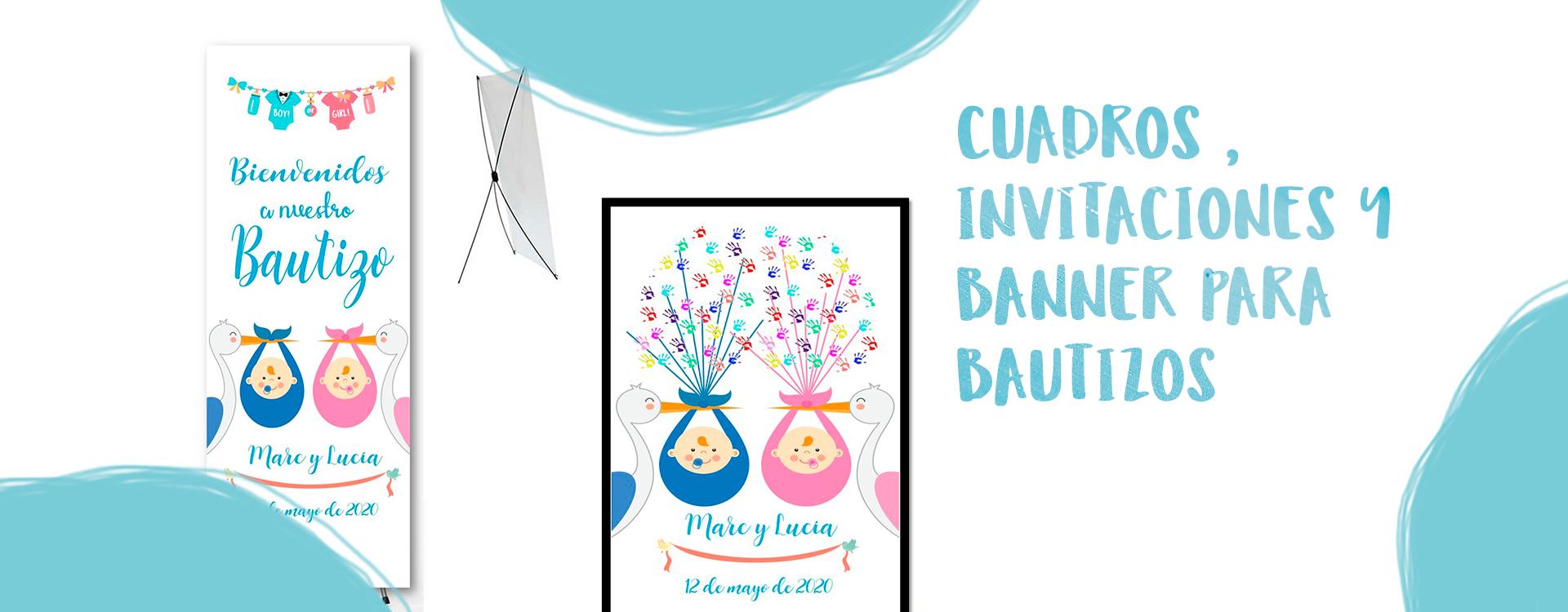 CUADROS, INVITACIONES Y BANNER PARA BODAS